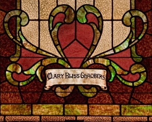 Mary Bliss Chambers window detail