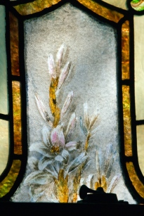 Cooley window, painted flower