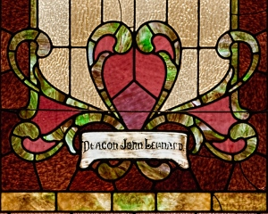 Deacon John Leonard, window detail