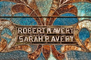 Robert and Sarah Avery Memorial window Central Congregational Church Galesburg, Illinois
