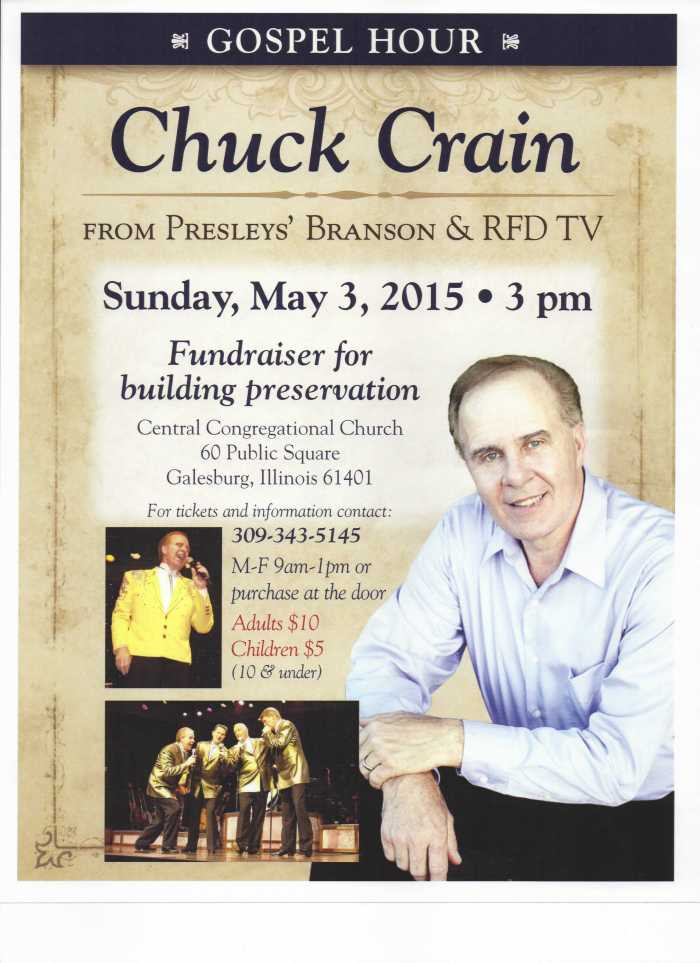 Chuck Crain Concert - May 3, 2015, at Central  Congregational Church