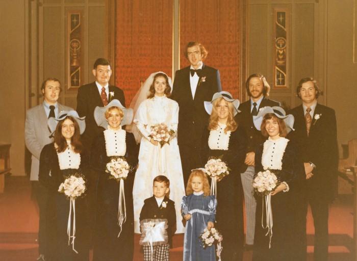 Algren-Bruner wedding party December 8, 1973